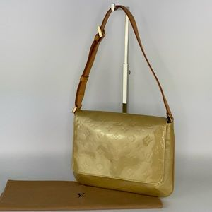 Auth LV Monogram Vernis Thompson St Shoulder Bag
